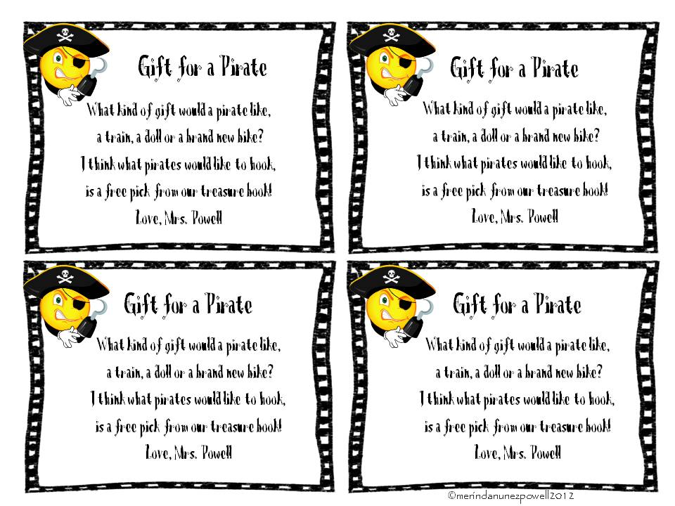 Pirate Girl: Christmas gift for my Pirates....