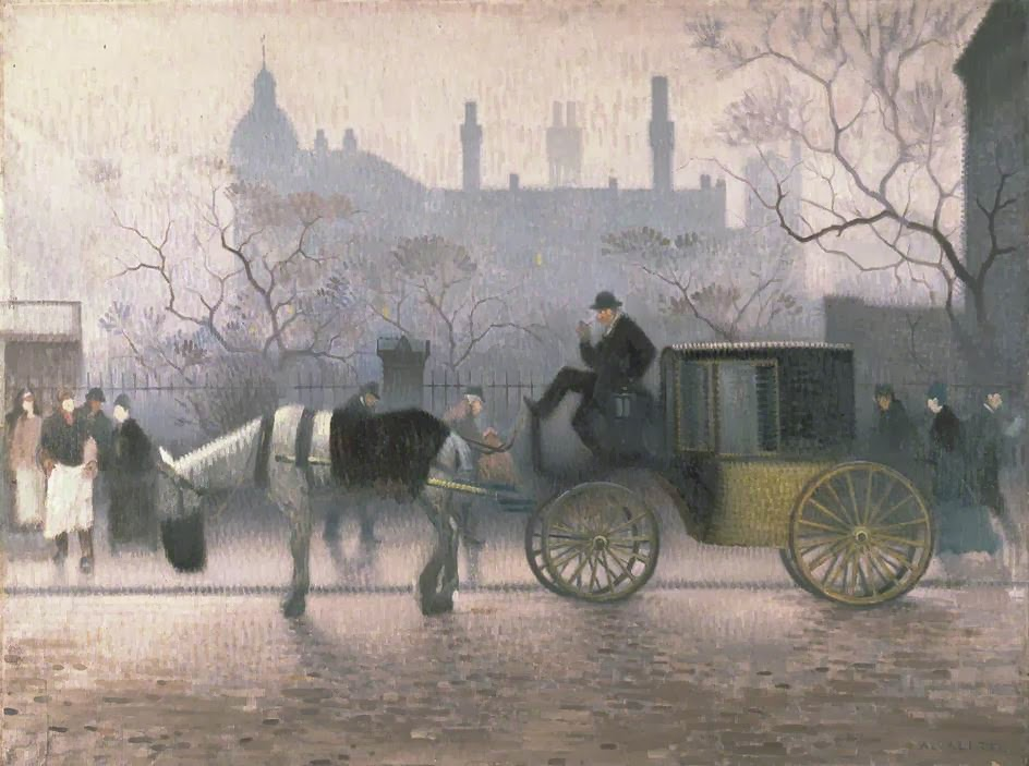 Adolphe  Valette    Old  Cab  at  All  Saints C  Manchester