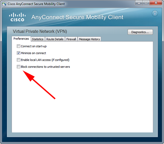 Free Tech Answers: Cisco AnyConnect Untrusted VPN Server