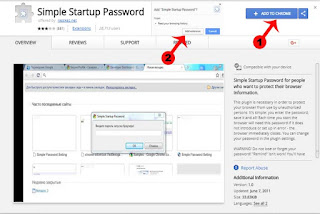 how to lock google chrome browser with password