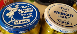 tops of vlasic pickle jars