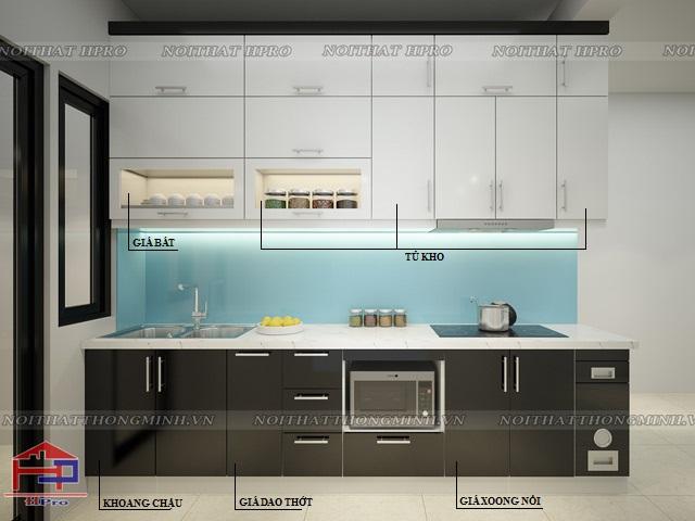 Mẫu thiết kế tủ bếp nhựa acrylic -6