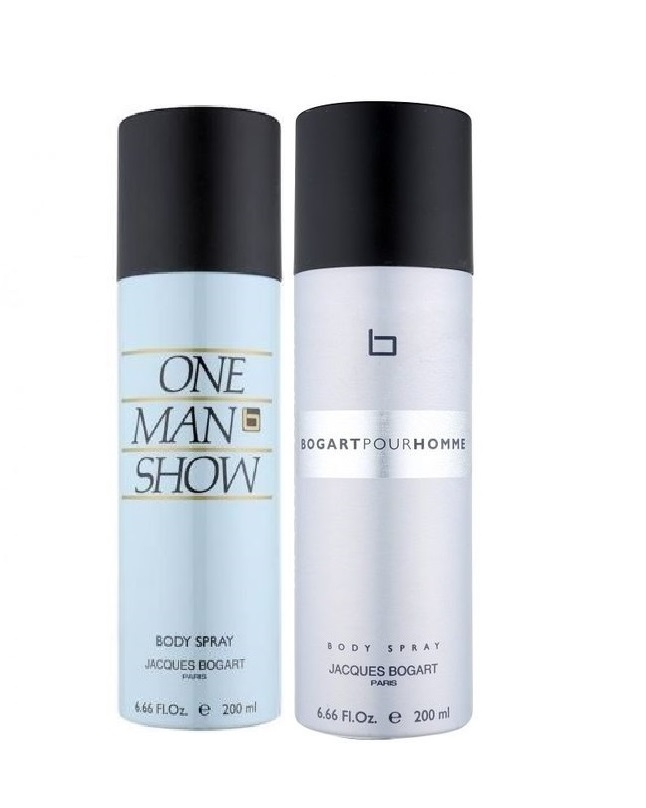Pack Of 2 - One Man Show And Bogart Pour Homme Body Spray 200 ml