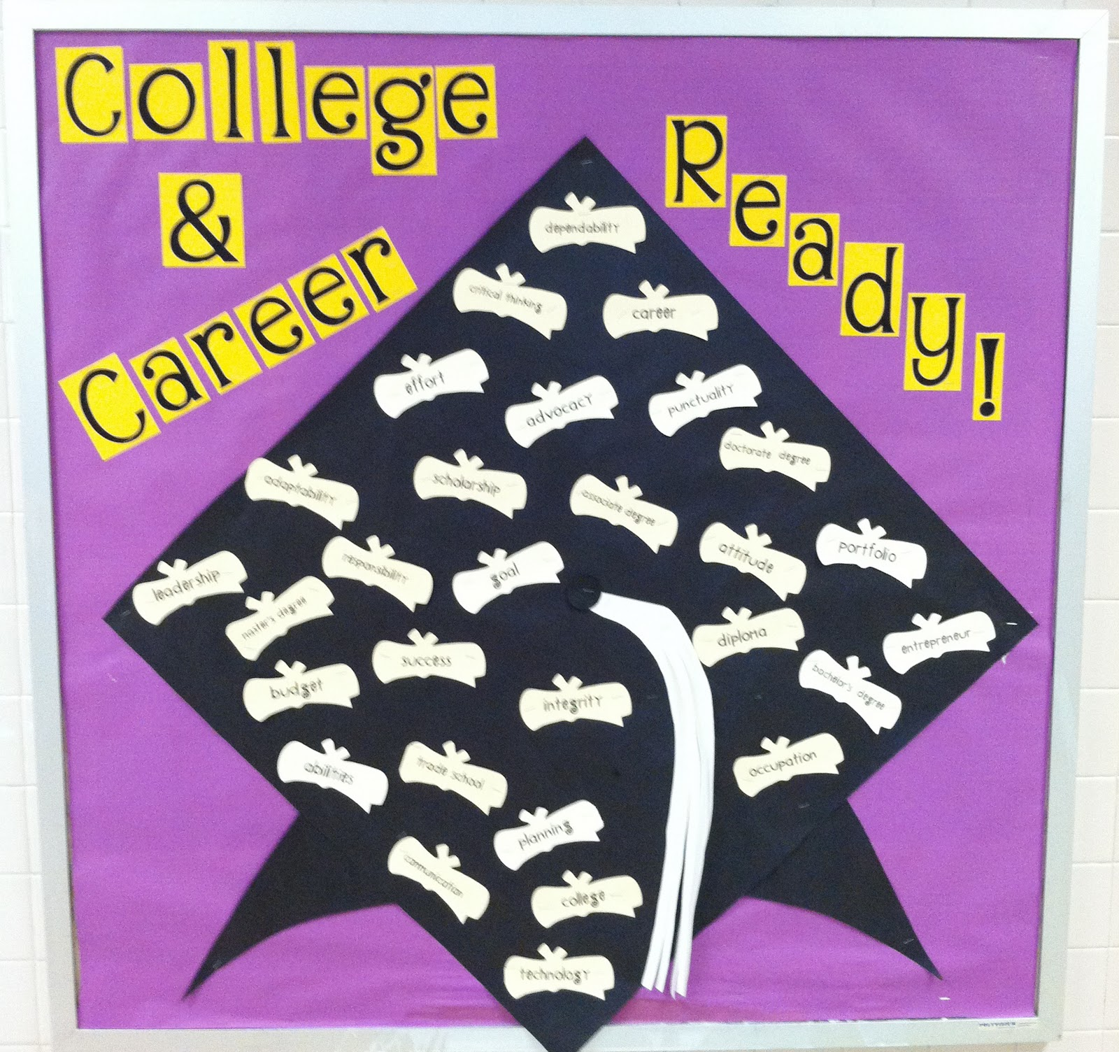 School Counselor Blog College And Career Ready Bulletin Board