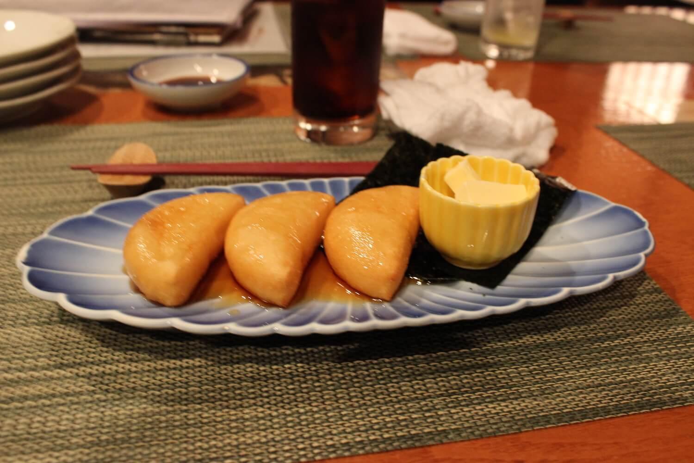 sapporo hokkaido food izakaya potato mochi imo mochi