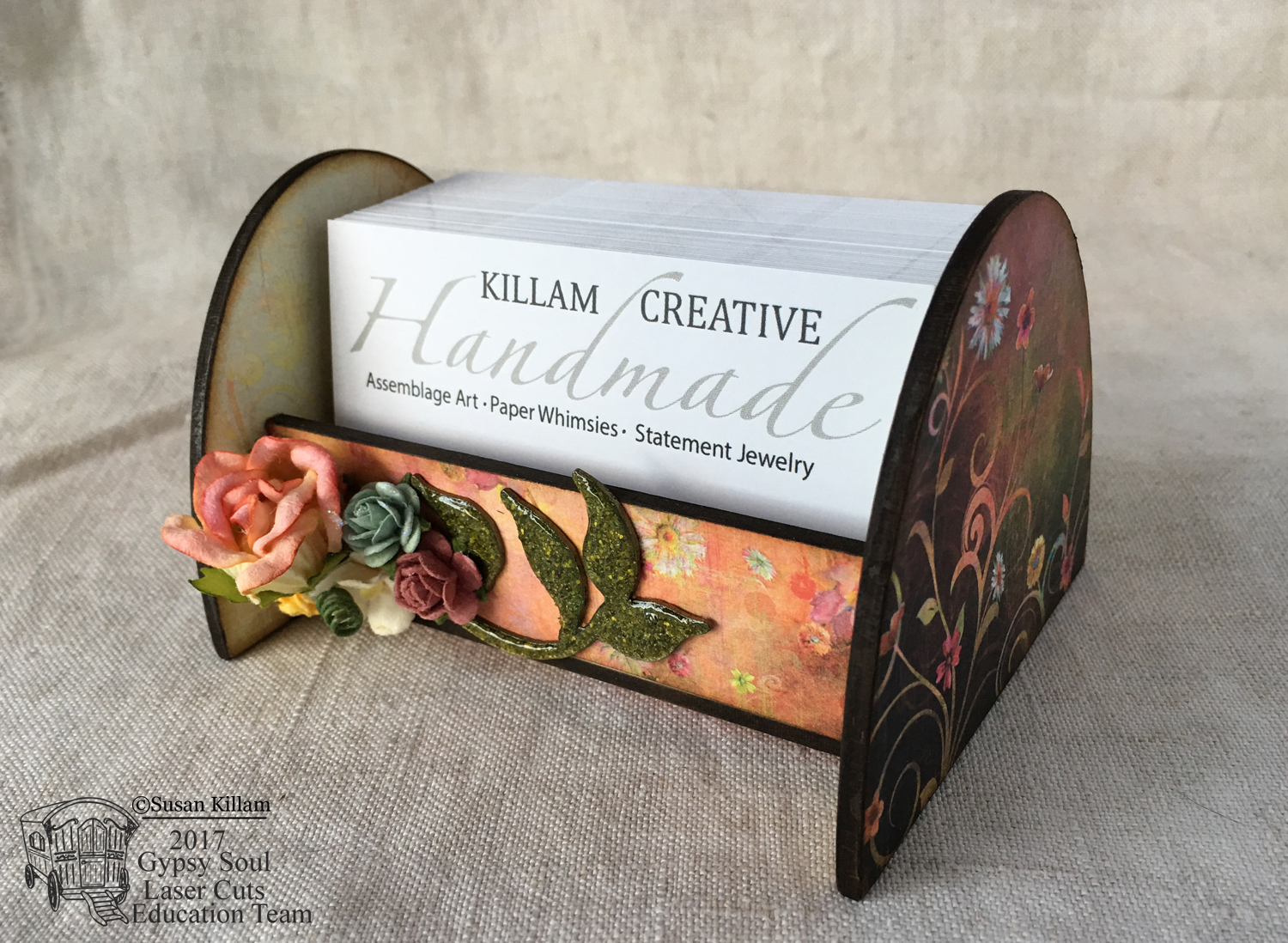 Gypsy Soul Laser Cuts: Business Card Holder by Susan Killam
