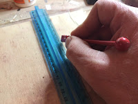 Scoring the glass