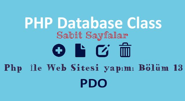 php ve pdo ile sabit sayfalar