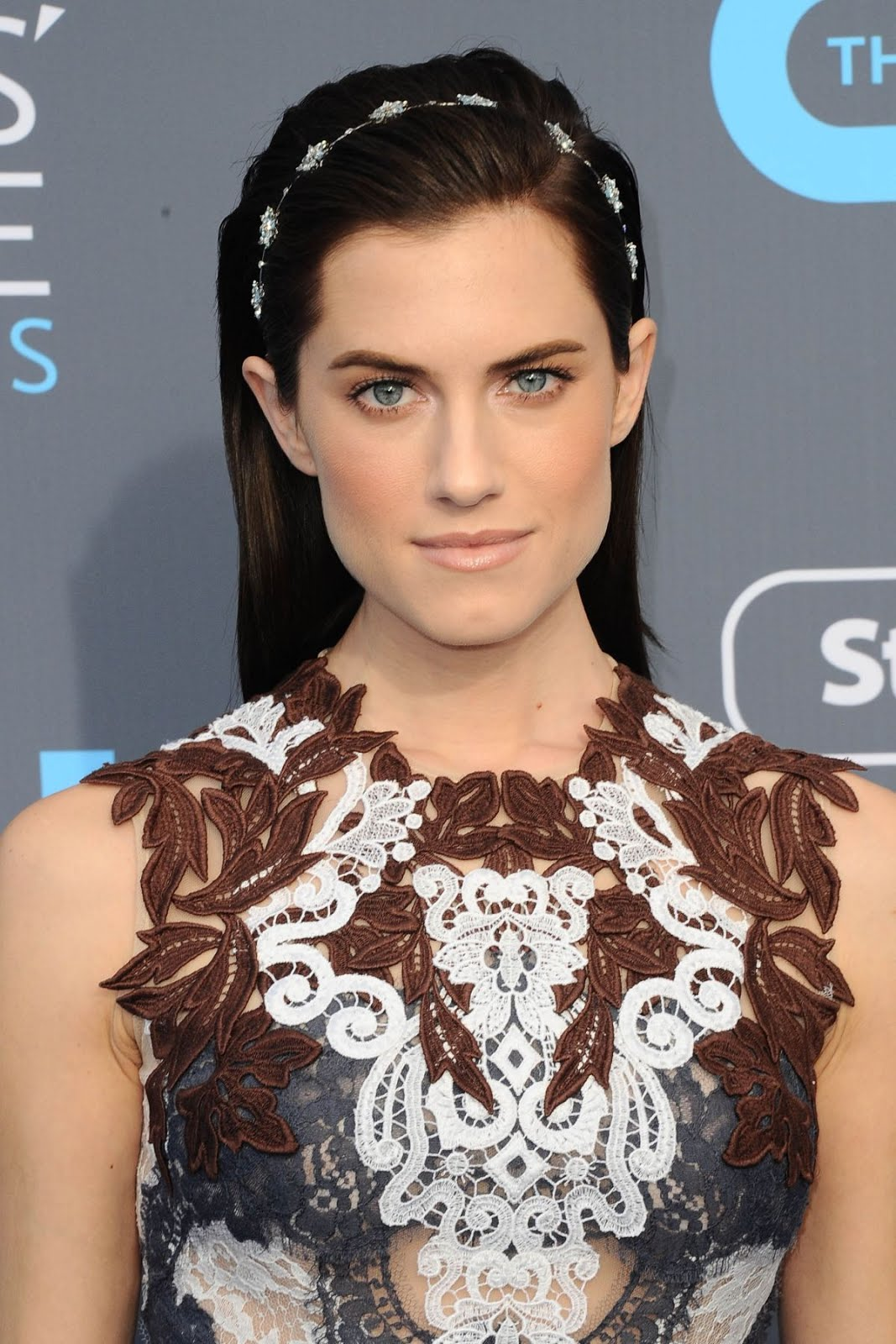 Allison Williams in chocolate dress at 2018 critics Choice Awards In Santa Monica