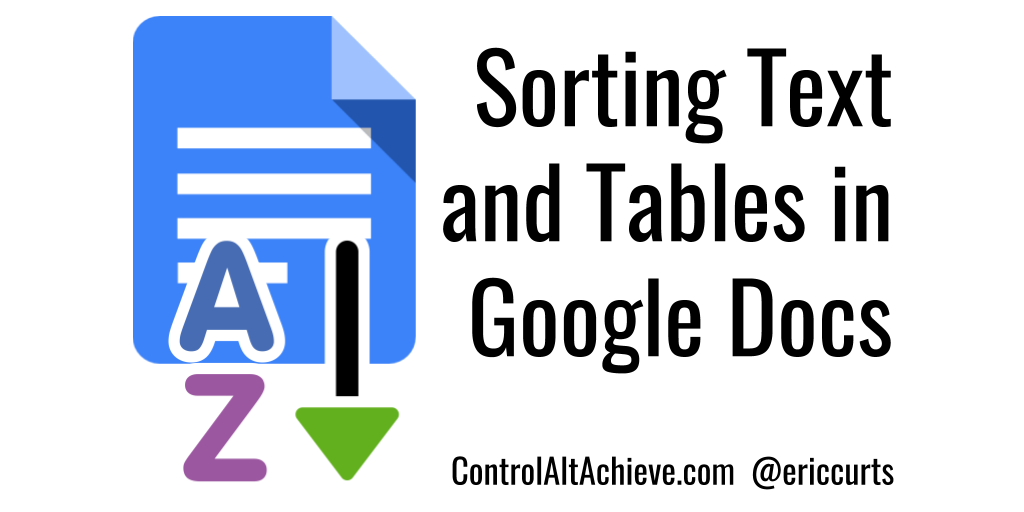 Sorting Text and Tables in Google Docs