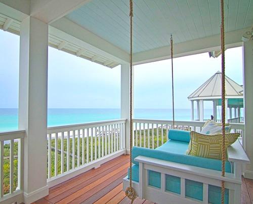 Pastel Beach Home In Blue Yellow Amp Seafoam Coastal
