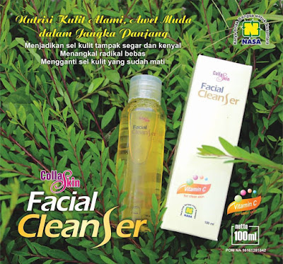collaskin facial cleanser produk nasa untuk kecantikan