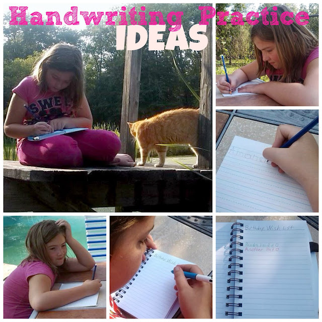 Handwriting Ideas: Ways to get your Children to Practice Writing