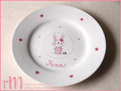 Stampin' Up! rosa Mädchen Kulmbach: Erinnerungsbox mit Beeindruckende Buchstaben, Porzellanspardose und Teller von der Herzenswerkstatt