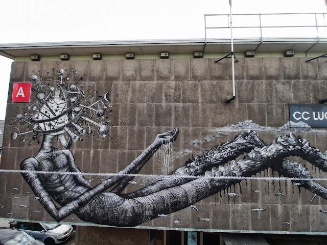 Street Art By Phlegm For Day One Festival In Antwerp, Belgium. 5