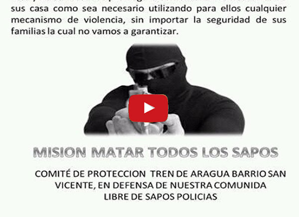 """Colectivo armado """"Tren de Aragua"""" da un plazo a los policías para que abandonen su territorio"""