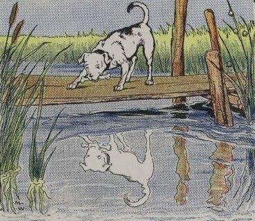el perro y su reflejo en el rio fabula esopo