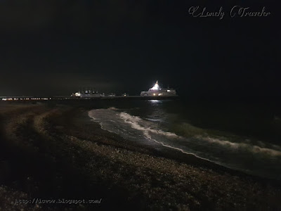 Eastbourne beach night