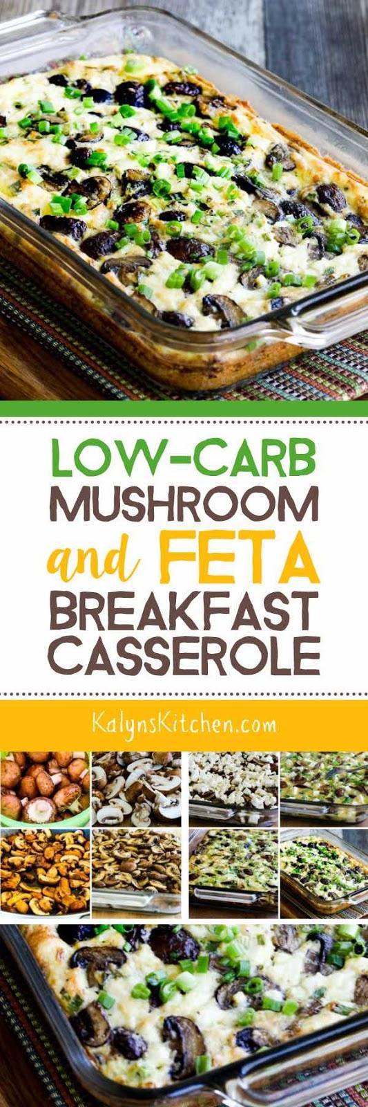 Low-Carb Mushroom and Feta Breakfast Casserole found on KalynsKitchen ...