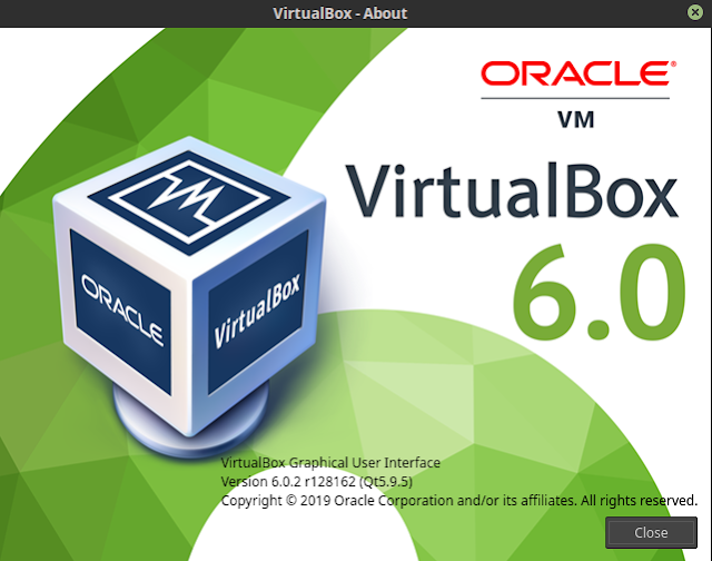 Cek versi virtualbox