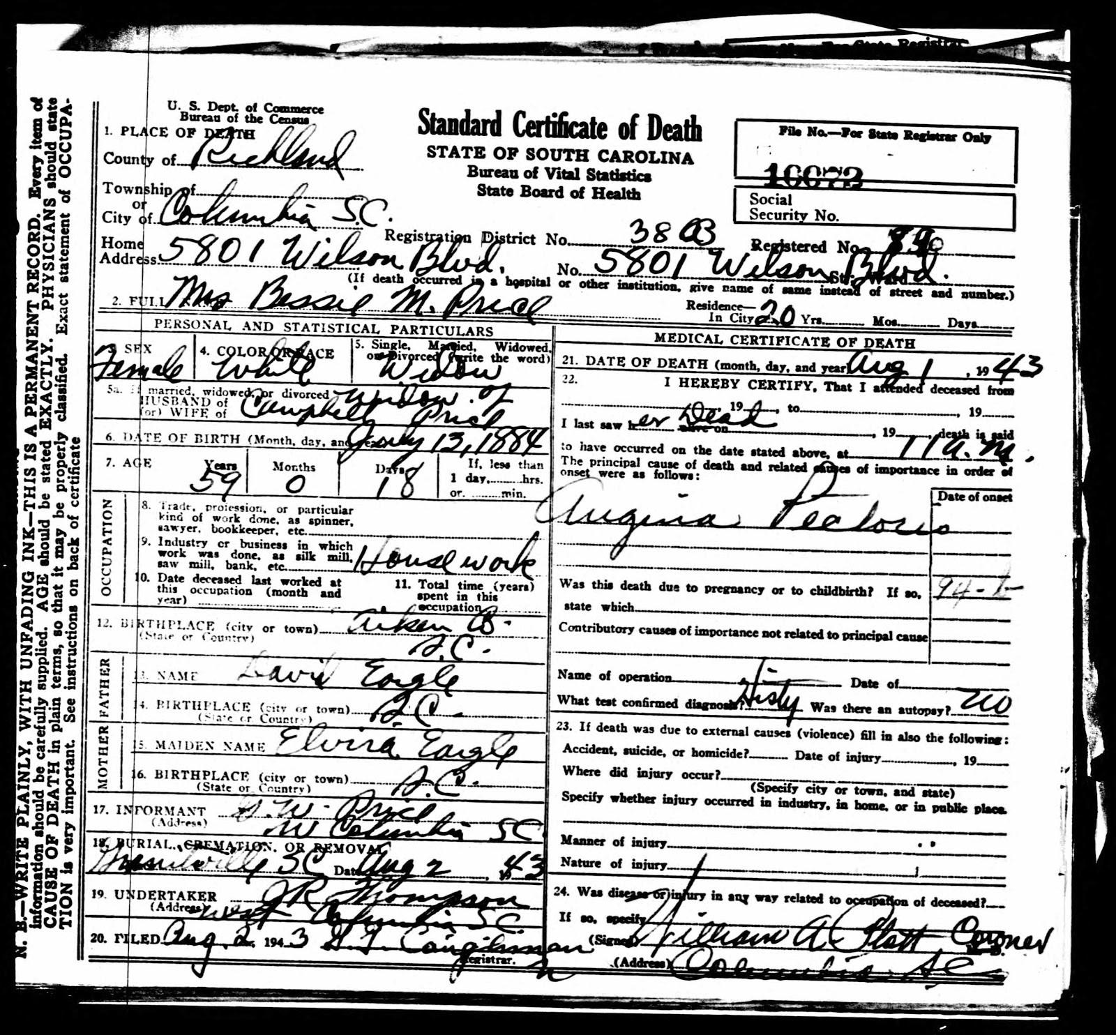 Carolina Girl Genealogy Dearmyrtle Genealogy Proof Standard Study