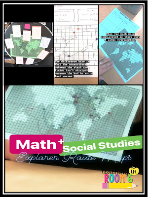 Great way to connect math and social studies in a 5th grade class.