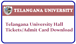 Telangana University Degree Hall Tickets 2020