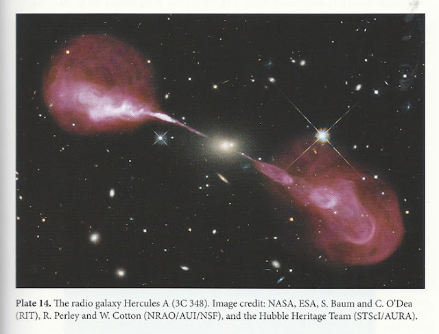"Radio Astronomy view (in red) of 3C348 (Source: Condon and Ransom, ""Essential Radio Astronomy"")"