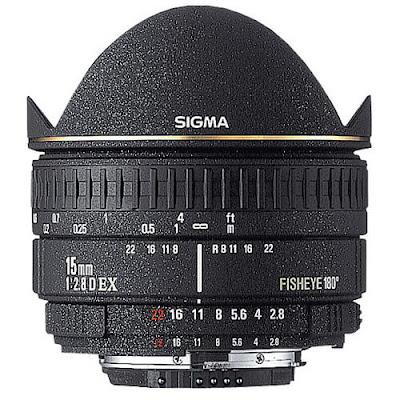 lensa sigma 15mm F/2.8 EX DG Fisheye
