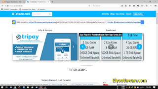 tampilan home page p-store