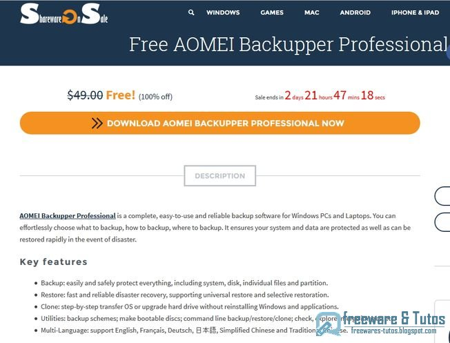 Aomei backupper professional coupon code