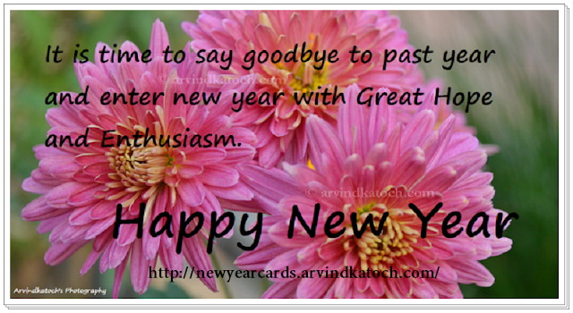 Goodbye, Past year, New Year, Hope, Enthusiasm, New Year Card, HD Card