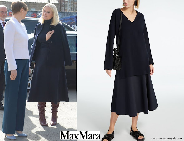 Crown Princess Mette Marit wore MaxMara Cotton Skirt