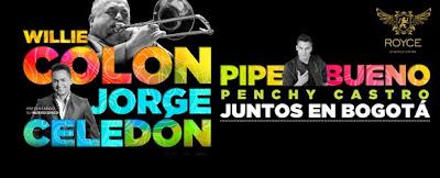 Willie Colón, Jorge Celedon, Pipe Bueno y Pechy Castro Juntos en Bogotá