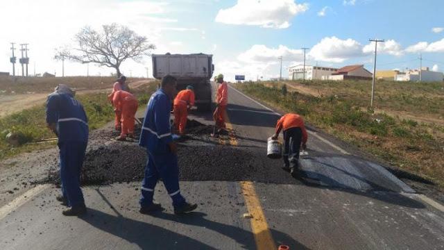 DNIT instala redutores de velocidade entre Cuité e Nova Floresta
