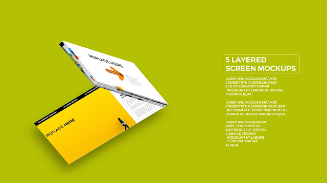 5 Layered Opening Screen Mockukp Templates in Powerpoint Slide5