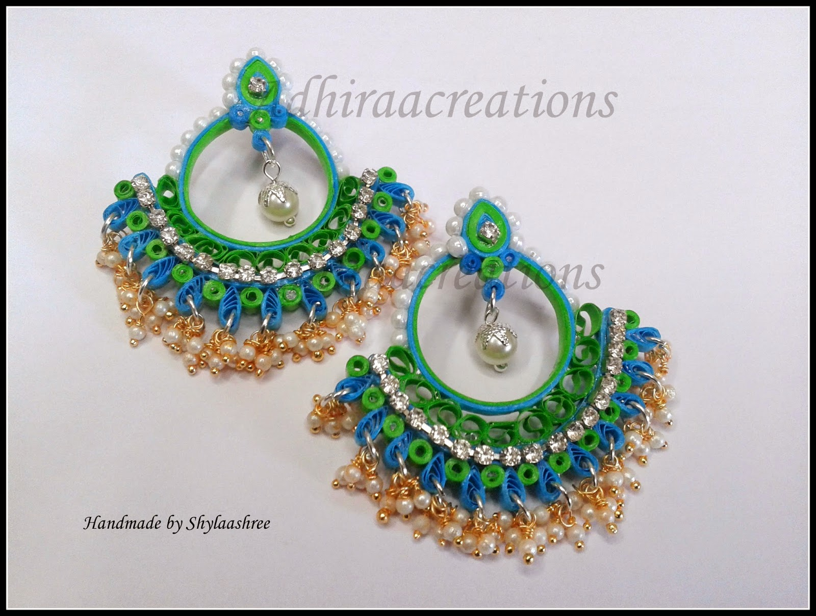 Here They Are Quilled Ramleela Earring And Many Paper Jhumkas