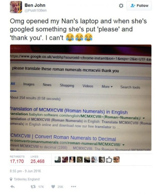 Abuelita pensaba que búsqueda de Google la hace una persona