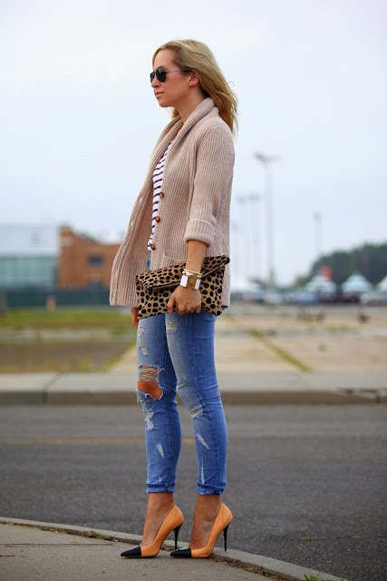 Brooklyn Blonde - Current Elliot Distressed Ripped Jeans
