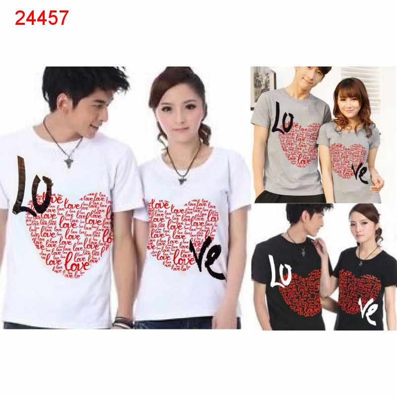 Jual Baju Couple Love Full - 24457
