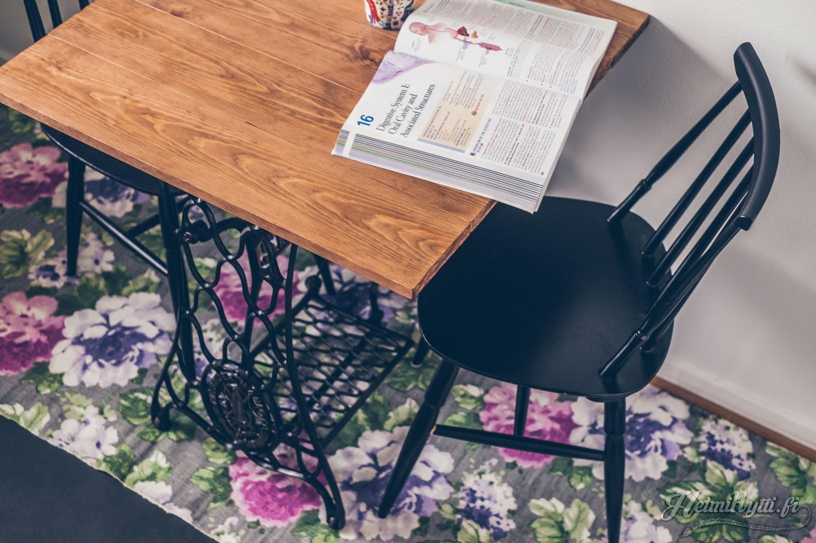 id diy ompelukonepöytä keittönpöytä keittiö sisustus