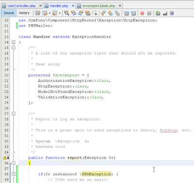 Gửi mail cho dev khi có lỗi SQL trong Laravel
