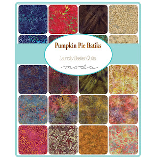 Moda Pumpkin Pie Batiks Fabric by Laundry Basket Quilts for Moda Fabrics