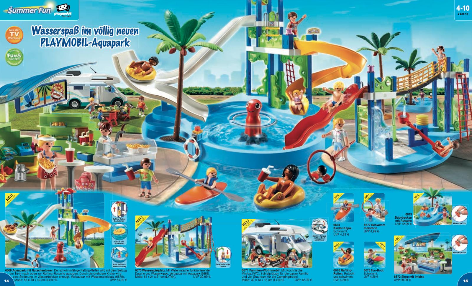Les nouveaut s playmobil 2015 en attendant 2016 klerelo for Playmobil piscine toboggan