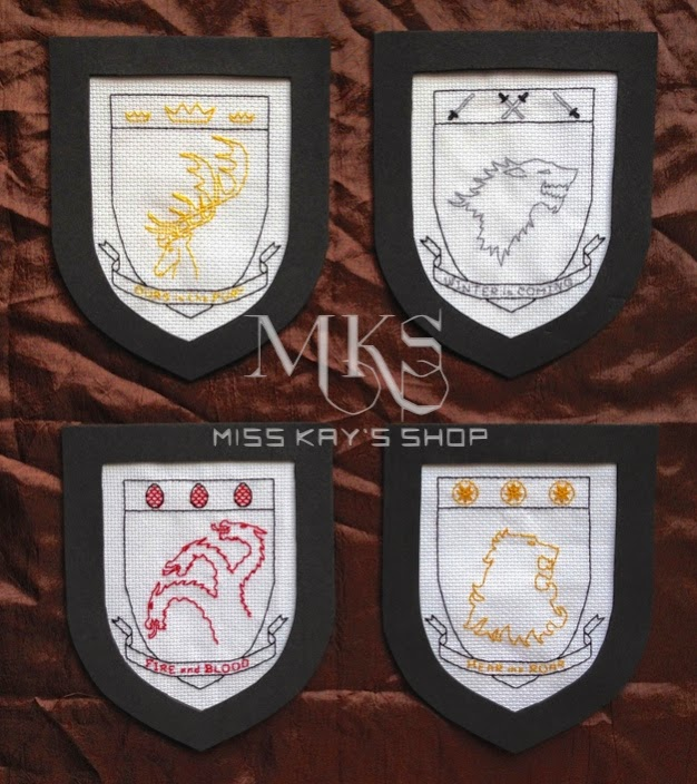 The Misadventures Of Miss Kay Game Of Thrones House Sigils Cross