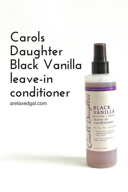 A first impression review of Carols Daughter Black Vanilla Moisture & Shine Leave-in Conditioner. | arelaxedgal.com