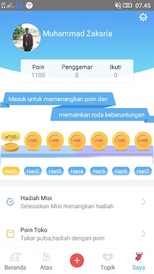 poin gratis dari aplikasi iMeme Android