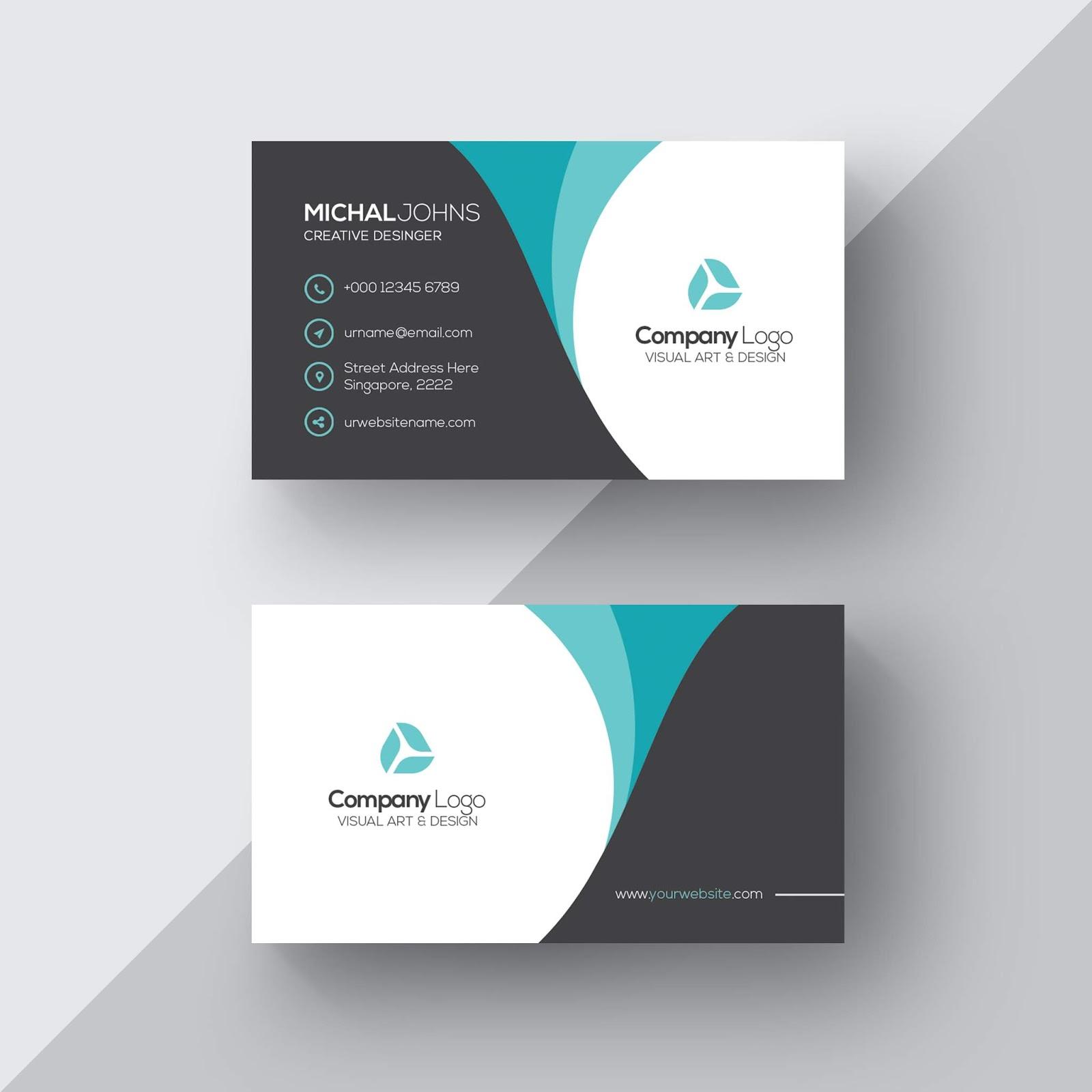 تحميل ملف Psd Business Card جاهز للتعديل على الفوتوشوب Elegant