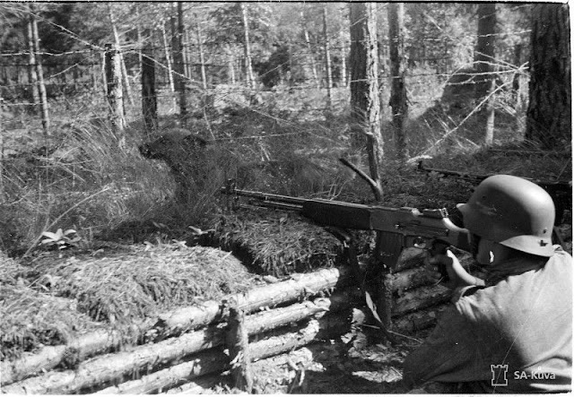 Finnish soldier with a Browning Automatic Rifle (BAR) variant, 7 August 1941 worldwartwo.filminspector.com