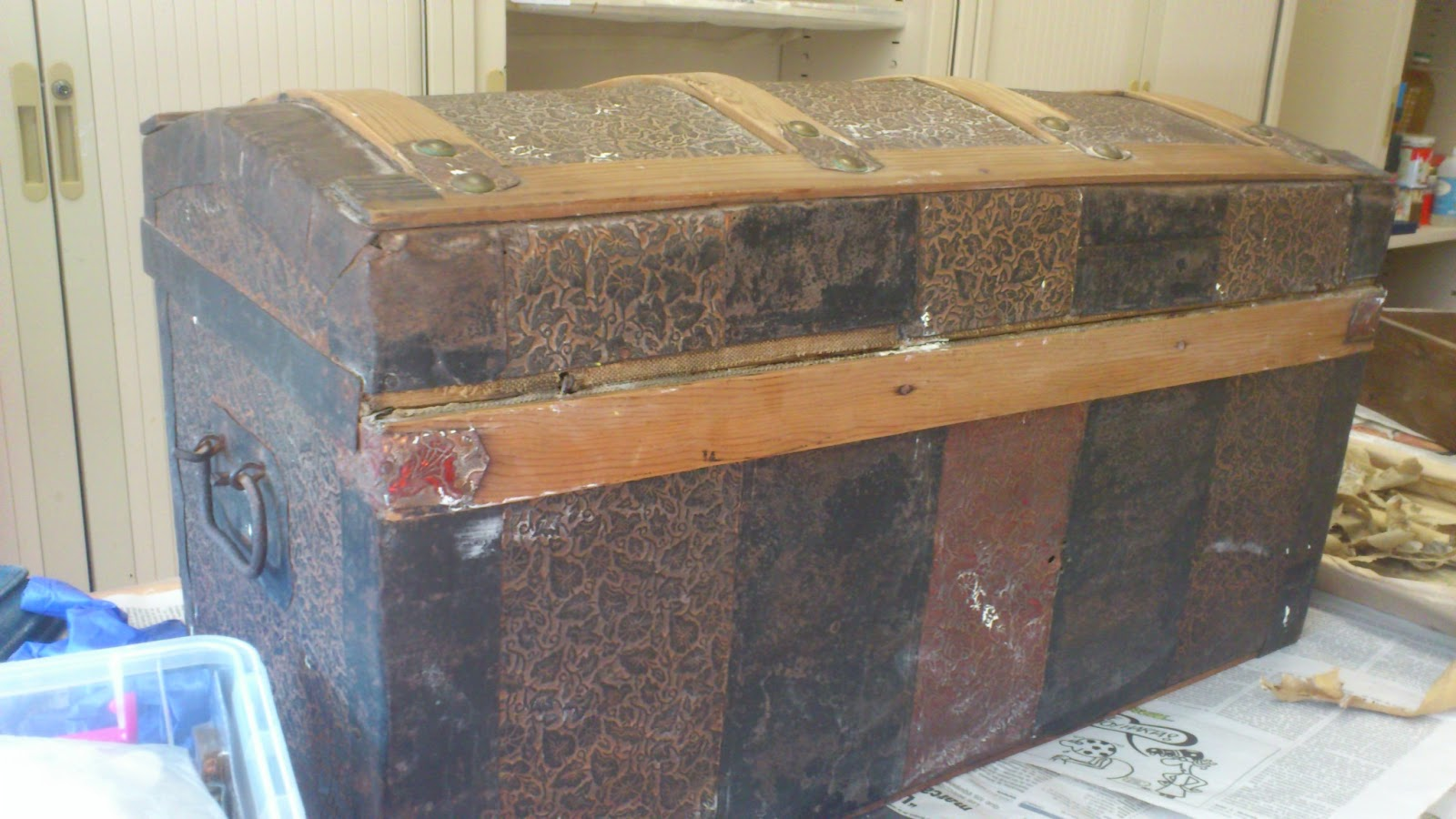 Madera de mindi restaurando aquel ba l antiguo - Como limpiar muebles de madera antiguos ...